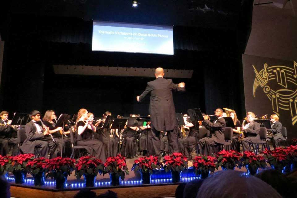 Concert Band Holiday Collage 2015